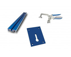 "Kit Carpintería Riel para Prensas KKS 1020 + Prensa de superficie 3""  KBC3 + Base para Prensa de superficie KBK-IP Kreg Kit 10"