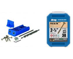 Kit Carpintería Sistema de guías de perforación HD (alta resistencia) KJHD + Caja 30 Tornillos HD SMLC2X250-30 Kreg Kit 11