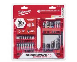 Juego de Accesorios Puntas 40 pc Shockwave Milwaukee 48-32-4006