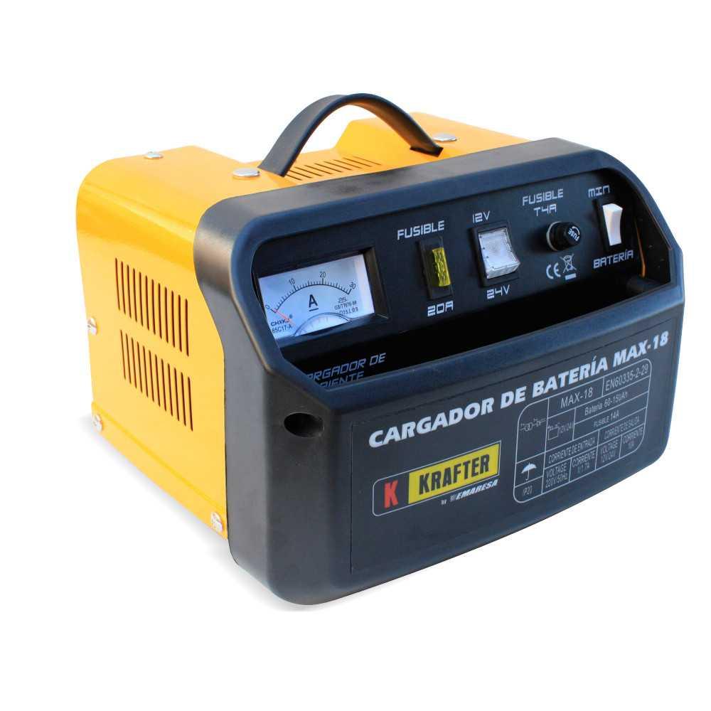 Cargador de Batería 12/24V 220V Krafter MAX 18