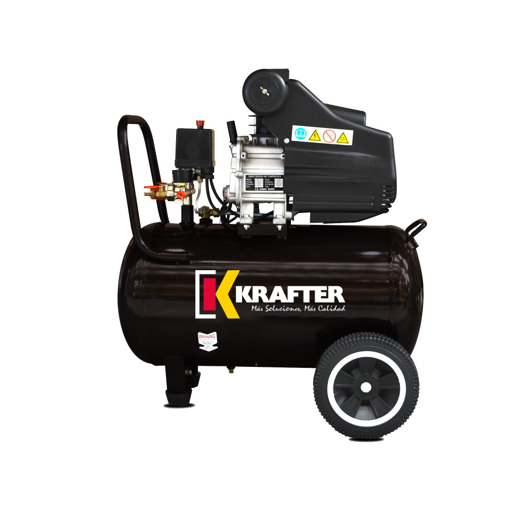 Compresor de aire 2.5 HP - ACK 50 Lts. 220 V Krafter 4449000005025