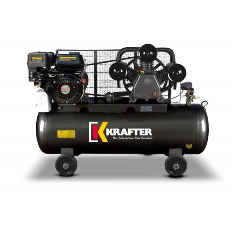 Compresor de aire 5,5 HP Autónomo ACK 100 Lts. Krafter 4449000010055