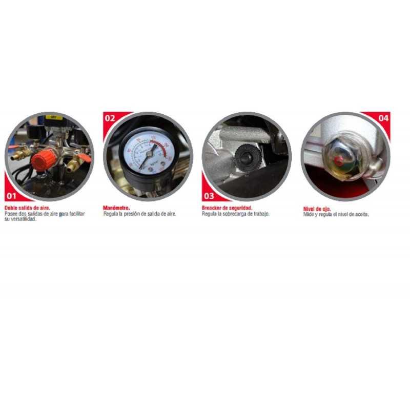 Compresor 3 HP - ACK 200 Lts. 220V  Krafter 4449000020030