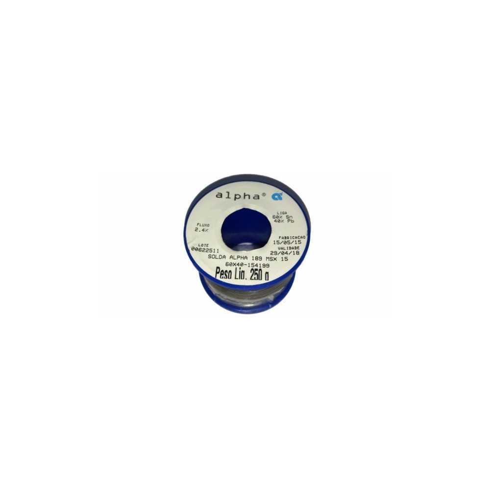 Soldadura en Rollo 0.8mm 250gr SN60PB40 Alpha 189MSX08-250