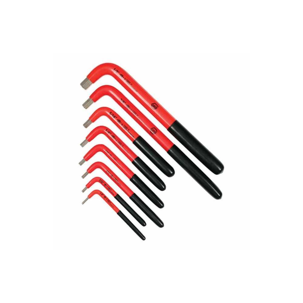 Juego de Llaves Electrónicas - 8 Llaves Allen en L con aislación 1000 VAC Wiha 13690