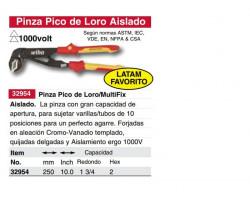 Alicate Aislado Pico de Loro 250 mm Wiha 32954