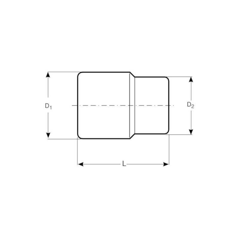 "Dado Hexagonal 1/2"" x 15 mm Bahco 7800SM-15"