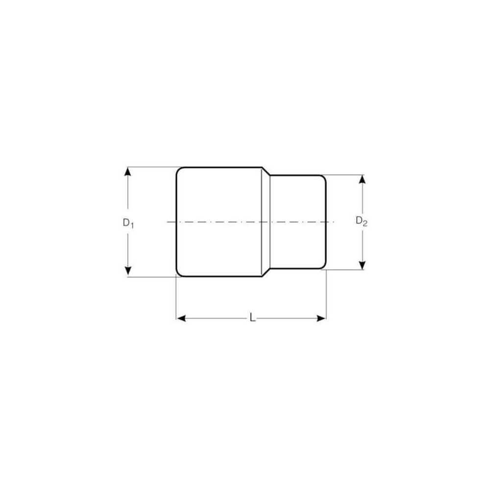 "Dado Hexagonal 1/2"" x 25 mm Bahco 7800SM-25"