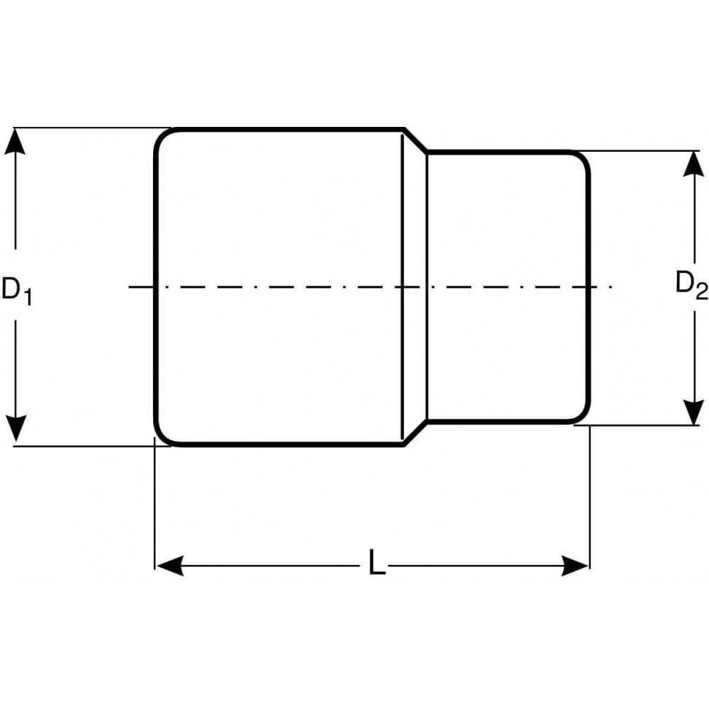 """Dado Poligonal Largo 1/2"""" x 15 mm Bahco 7805DM-15"""