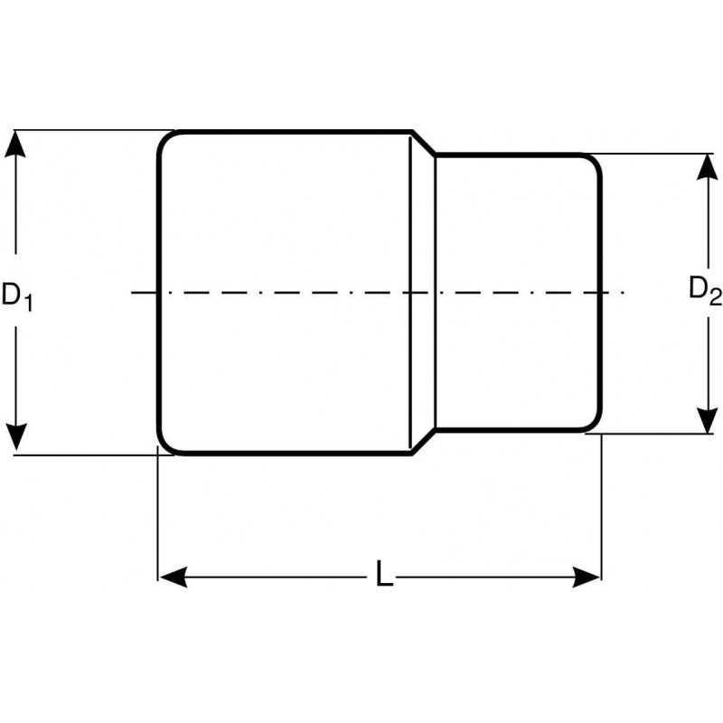 """Dado Poligonal Largo 1/2"""" x 22 mm Bahco 7805DM-22"""