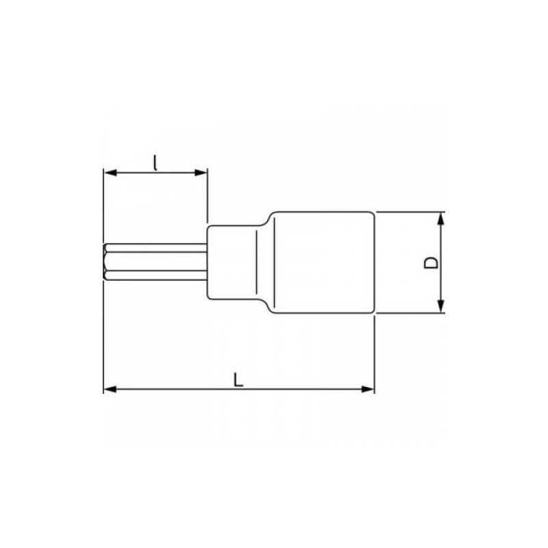 "Dado Destornillador Hexagonal 1/2"" x 8 mm x 120 mm Bahco 7809M-8-120"