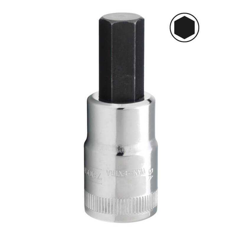 """Dado Destornillador Hexagonal 1/2"""" x 9 mm Bahco 7809M-9"""