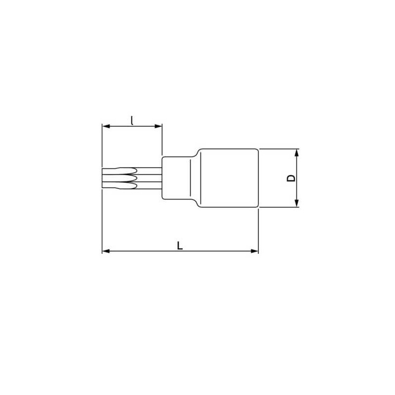 "Dado Destornillador TORX 1/2"" x T25 Bahco 7809TORX-T25"