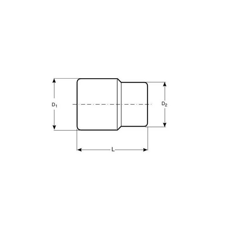 """Dado TORX-E 1/2"""" x 12 mm Hembra Bahco 7800TORX-E12"""