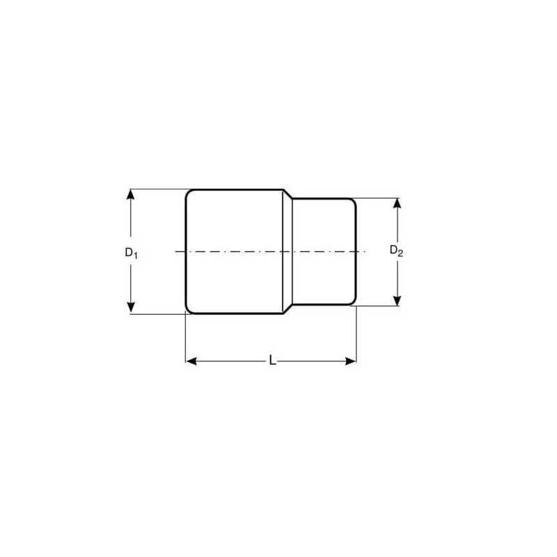 """Dado TORX-E 1/2"""" x 16 mm Hembra Bahco 7800TORX-E16"""