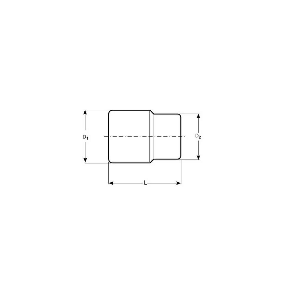 """Dado TORX-E 1/2"""" x 18 mm Hembra Bahco 7800TORX-E18"""