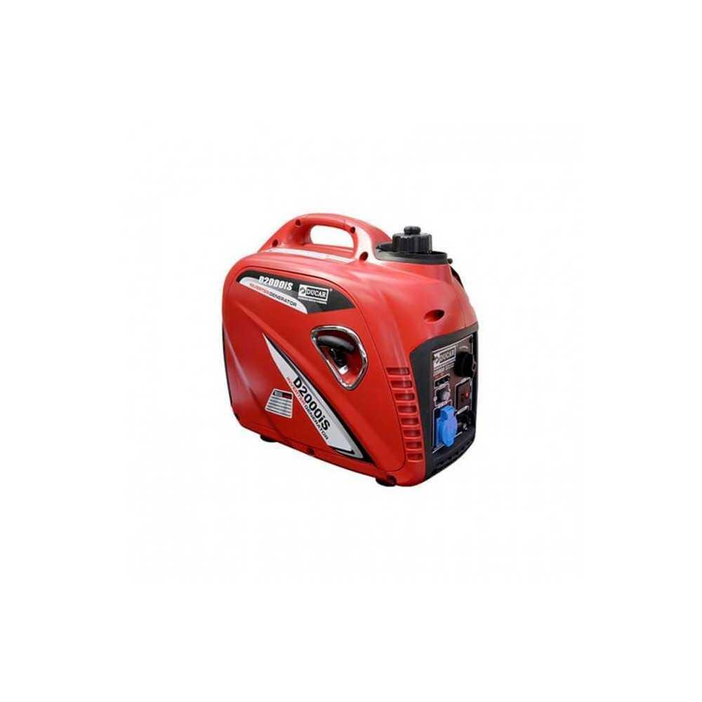 Generador Eléctrico a Gasolina Inverter 2Kw / 2.7Hp Ducar D2000i