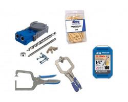Kit Carpintería Guías de perforación, prensas y tornillos. Kreg Kit 5