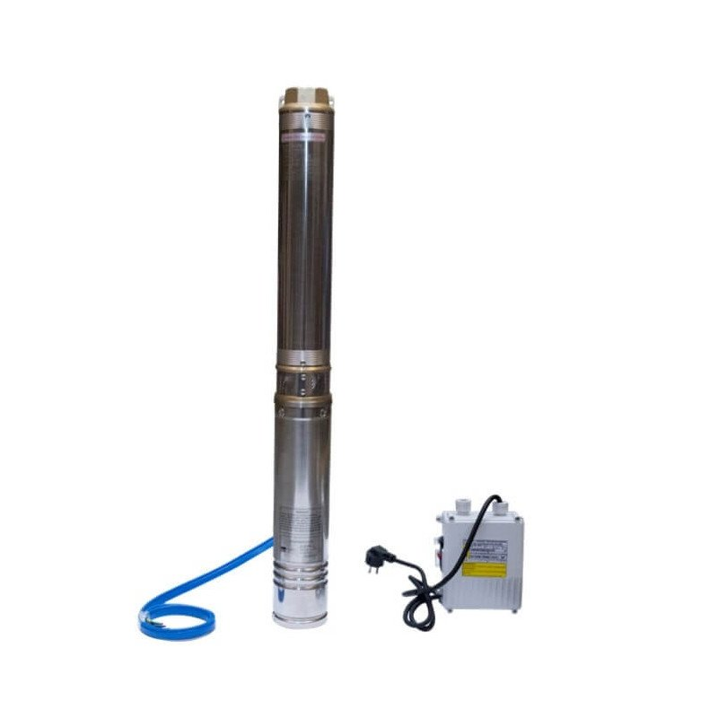 """Bomba Pozo profundo 4"""" 1.5 HP/ Para agua limpia con pequeñas impuresas Hyundai 82HY4M4-12"""