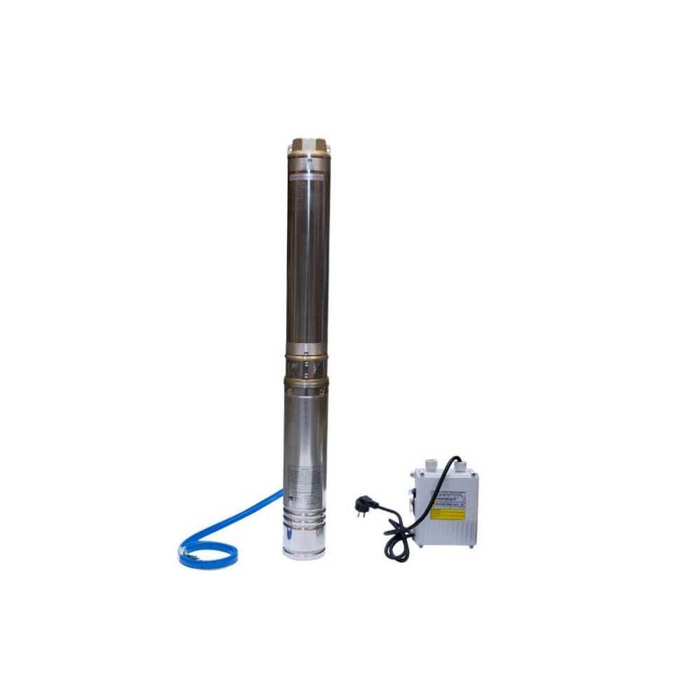 "Bomba de Agua Pozo profundo 4"" 1.5 HP/ Para agua limpia con pequeñas impurezas. Hyundai 82HY4M8-7"