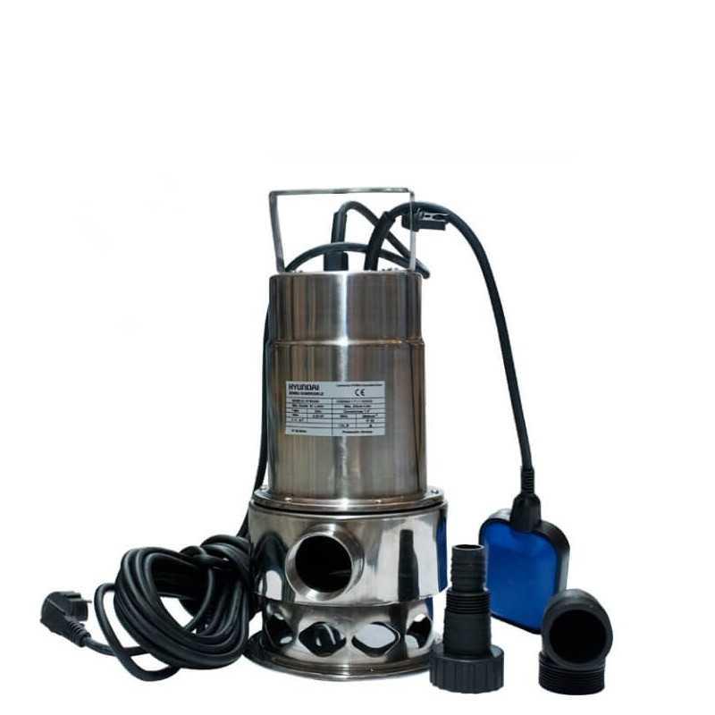 Bomba Pozo Profundo Para Aguas Limpias y Sucias 0.5HP / 0.37 KW Hyundai 82HYSD400