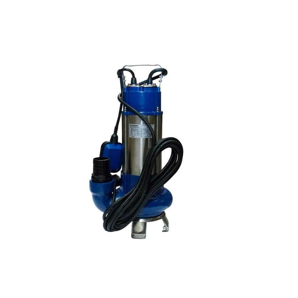 Bomba de Agua sumergible de acero inox. 1.5 HP / Para aguas limpias y sucias Hyundai 82HYWQD18