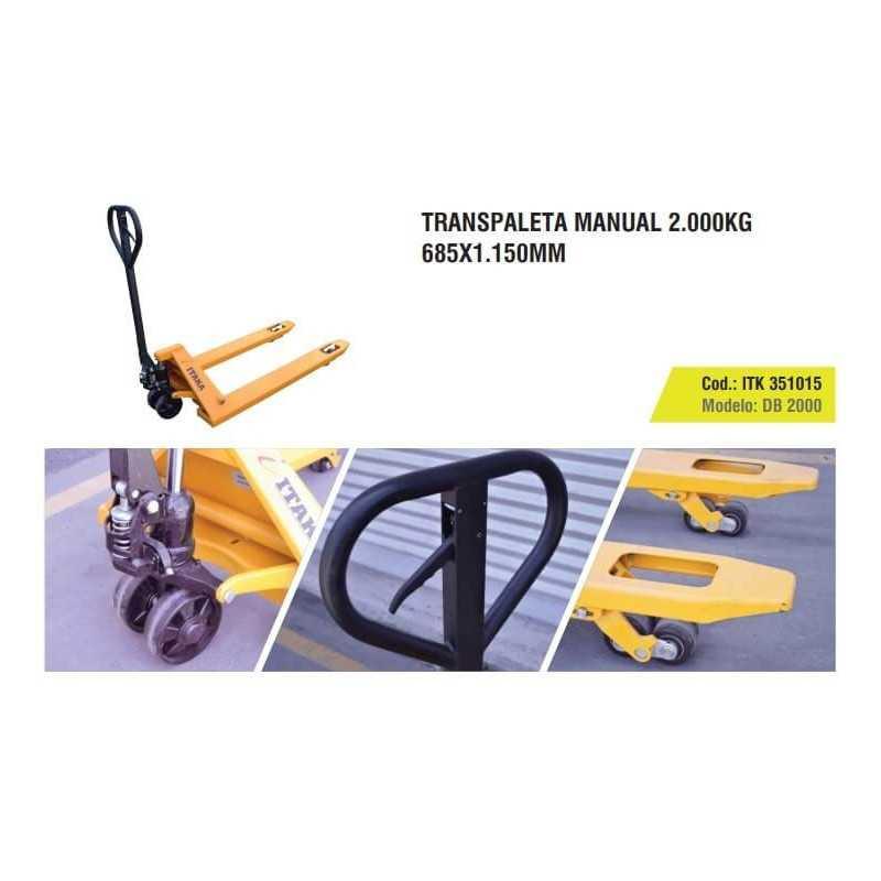 Transpaleta Manual 2000 Kg 685 x 1150 MM Itaka DB 2000