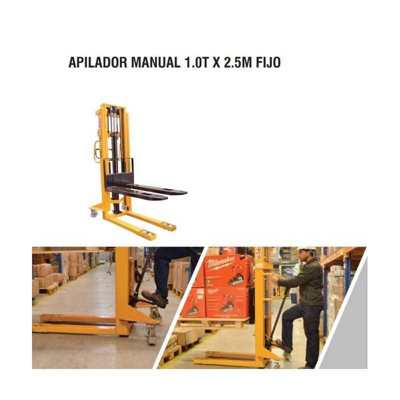 Apilador Manual 1.0 T x 2.5 M Fijo Itaka SDJ1025