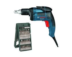Kit Cyberday Atornillador 701W GSR 6-45 TE + Set Puntas 25 pzs 2607019676 Bosch 0601.445.1E0-000