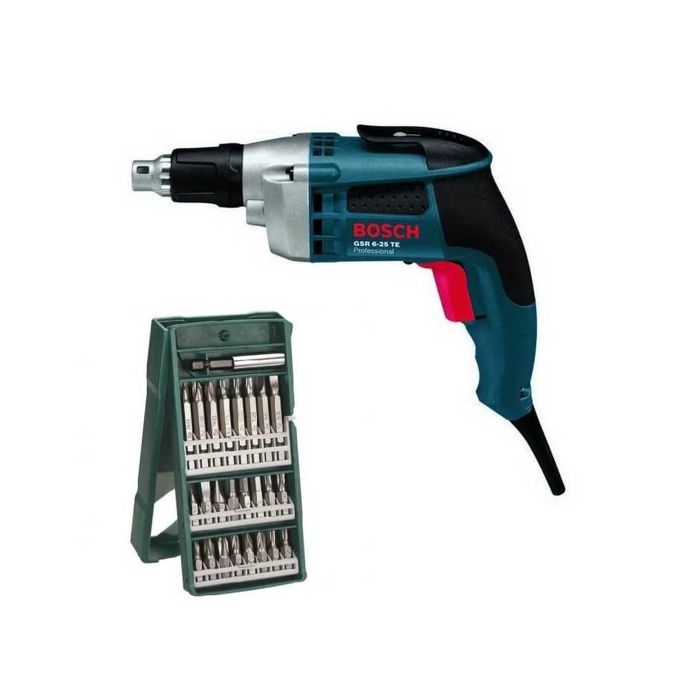 Kit Cyberday Atornillador 701W GSR 6-25 TE + Set Puntas 25 Pzs 2607019676 Bosch 0601.445.0E0-000