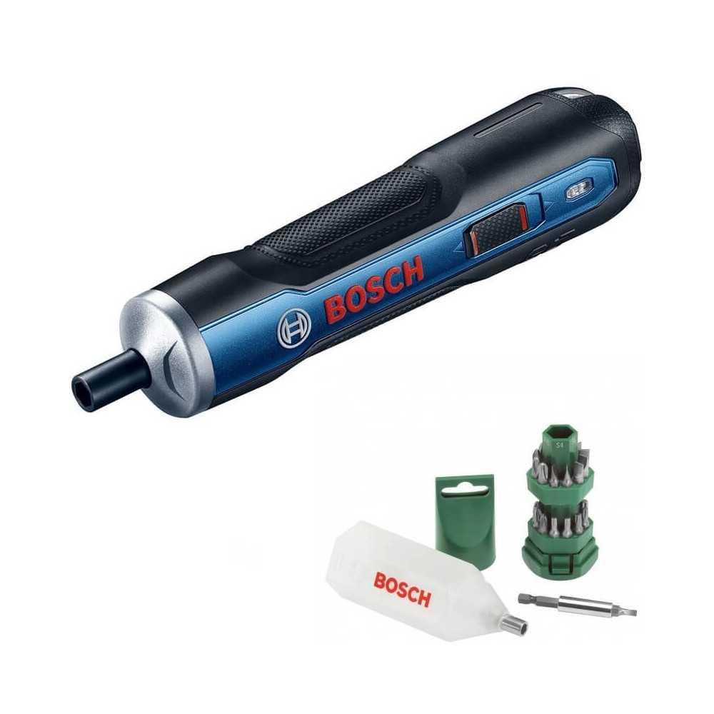 Kit Cyberday Atornillador Inalámbrico Bosch Go + Set Puntas de 25 pzs. Bosch 0601.9H2.0E0-000