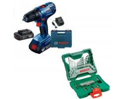 Kit Cyberday Taladro Atornillador GSR 180-LI + Set Puntas y Brocas 33 Pzs Bosch 0601.9F8.1N0-000
