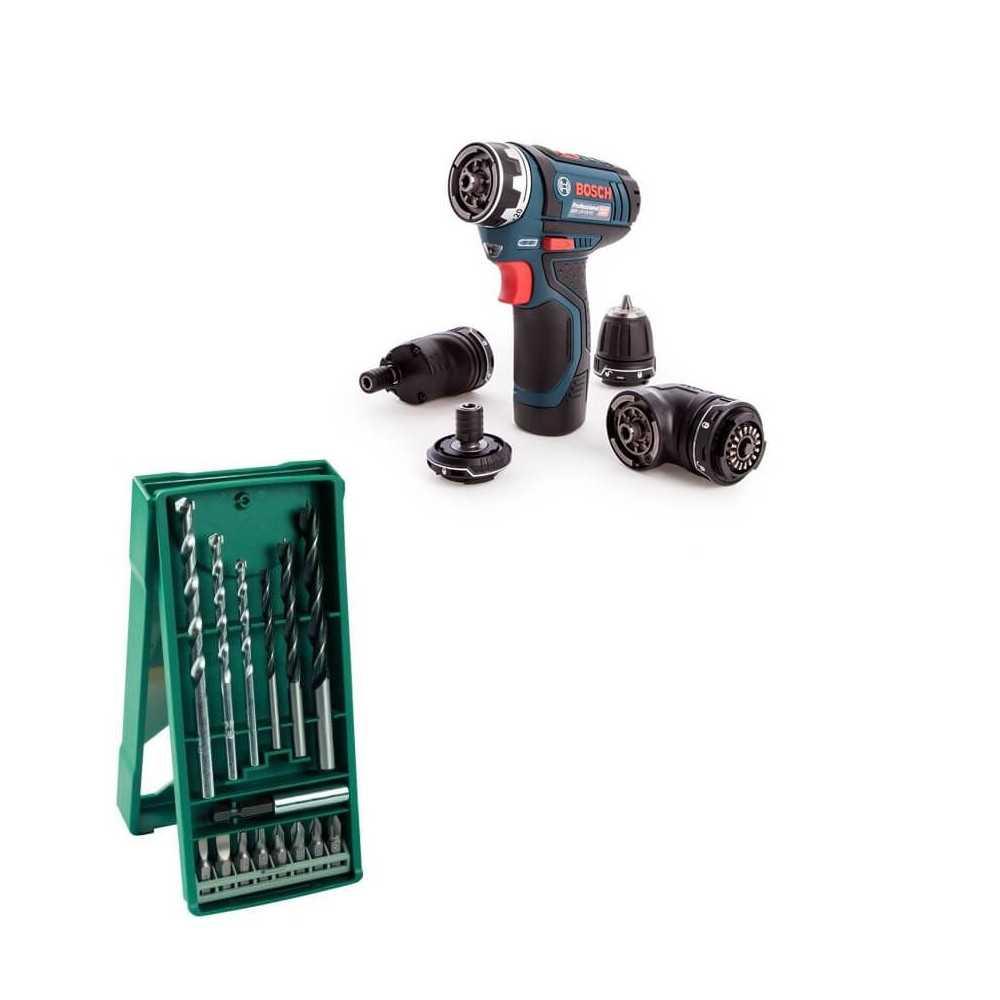 Kit Cyberday Taladro Atornillador Bosch GSR 12V-15 FC + MINI X-LINE 15 pzs Bosch 0601.9F6.0E0-000
