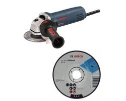 "Kit Cyberday Esmeril Angular 4 ½"" GWS 670 + 5  Discos Corte Recto 4 1/2"" x 7/8"" Bosch 0601.375.6E0-000"