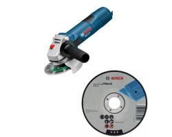 "Kit Cyberday Esmeril Angular 4 ½"" GWS 7-115 + 5 Discos Corte Recto 4 1/2""x7/8"" Bosch 0601.394.0E0-000"