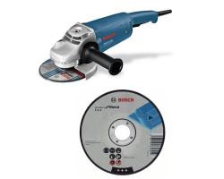 """Kit Cyberday Esmeril Angular 7"""" GWS 22-180 D+ 5 Discos Corte Recto 7""""x7/8"""" Bosch 0601.8A1.1N0-000"""
