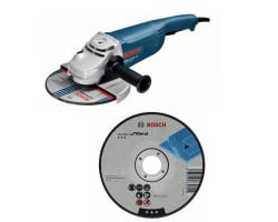 """Kit Cyberday Esmeril Angular 9"""" GWS 22-230 D+ 5 Discos Corte Recto 9""""x7/8"""" Bosch 0601.8A2.1N0-000"""