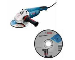 """Kit Cyberday Esmeril Angular 7"""" GWS 24-180 + 5 Discos Corte Recto 7""""x7/8"""" Bosch 0601.8A3.0N0-000"""