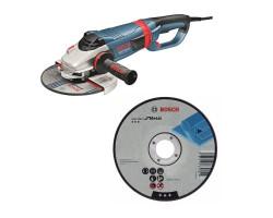 "Kit Cyberday Esmeril Angular 9"" GWS 24-230 LVI + 5 Discos Corte Recto 9""x7/8"" Bosch 0601.893.HN0-000"