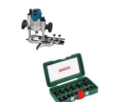 Kit Cyberday Fresadora Electrónica Constante GOF 1600 CE+Set de Fresa 15 pzs Bosch 0601.624.0E0-000