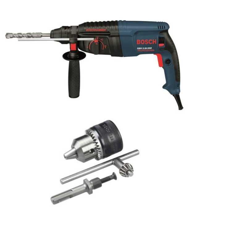 Kit Cyberday Rotomartillo GBH 2-26 DRE+Adaptador SDS-PLUS c/Mandril Bosch 0611.253.7N0-000