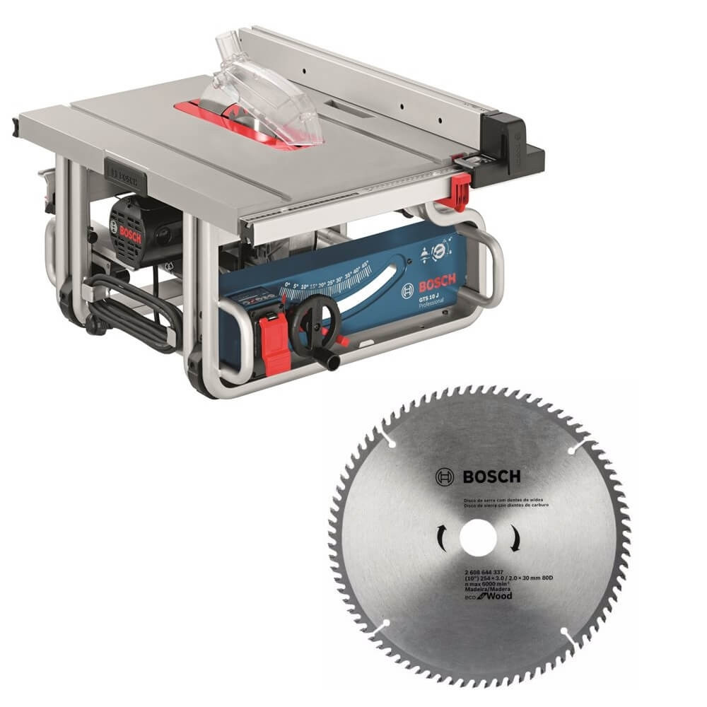 "Kit Cyberday Sierra de Banco GTS 10 J+ Disco de Sierra Circular ECO 10"" Bosch 0601.B30.5E0-000"