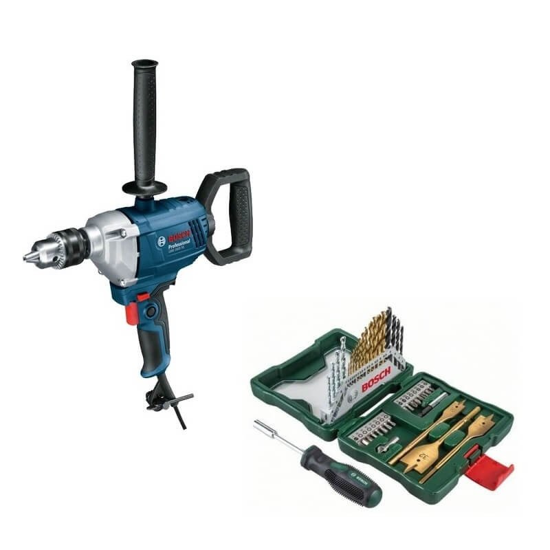 Kit Cyberday Taladro 850W GBM 1600 RE+Set Puntas y Brocas 40 Pzs Bosch 0601.1B0.0E0-000