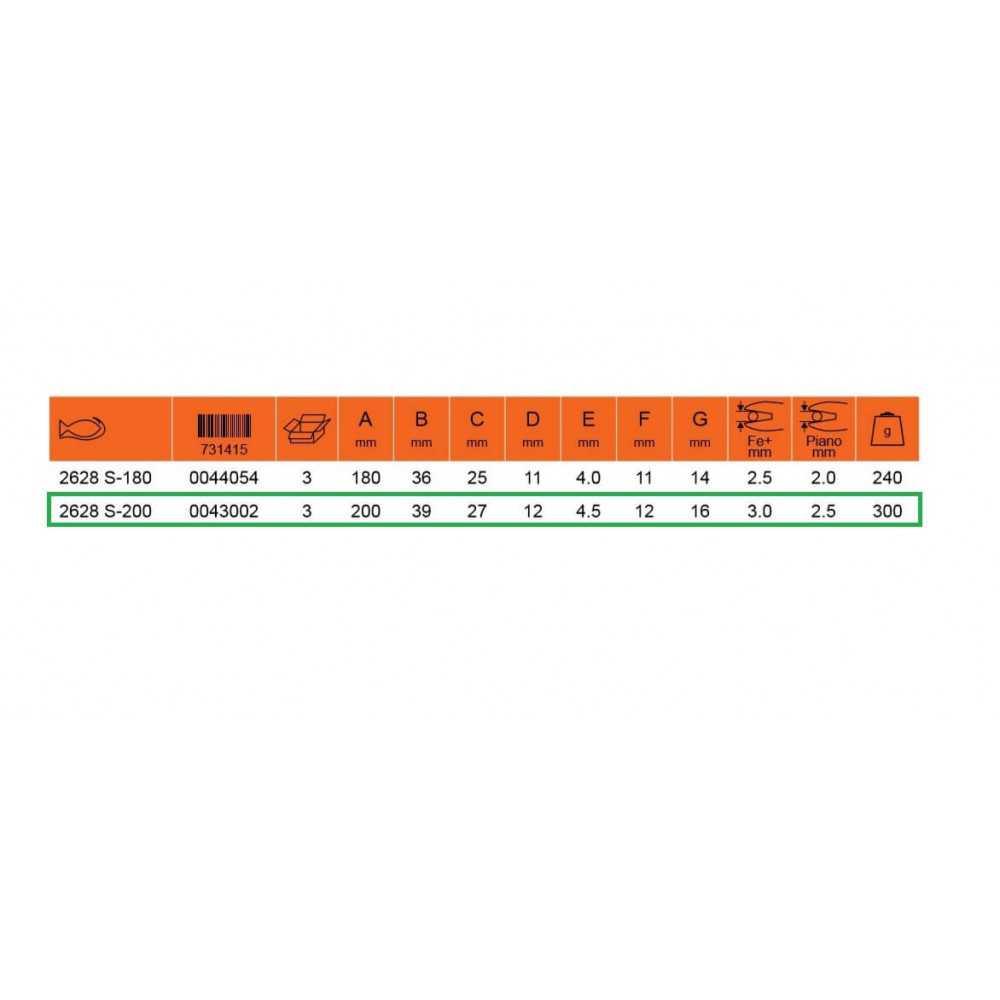 """Alicate Aislado Universal 8"""" 1000 Volt Bahco 2628 S-200"""