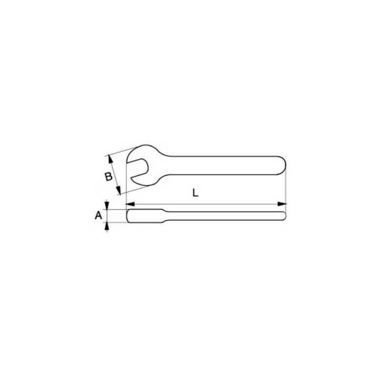 Llave Fija Aislada de una Boca 19 X 175 MM Bahco 6MV-19