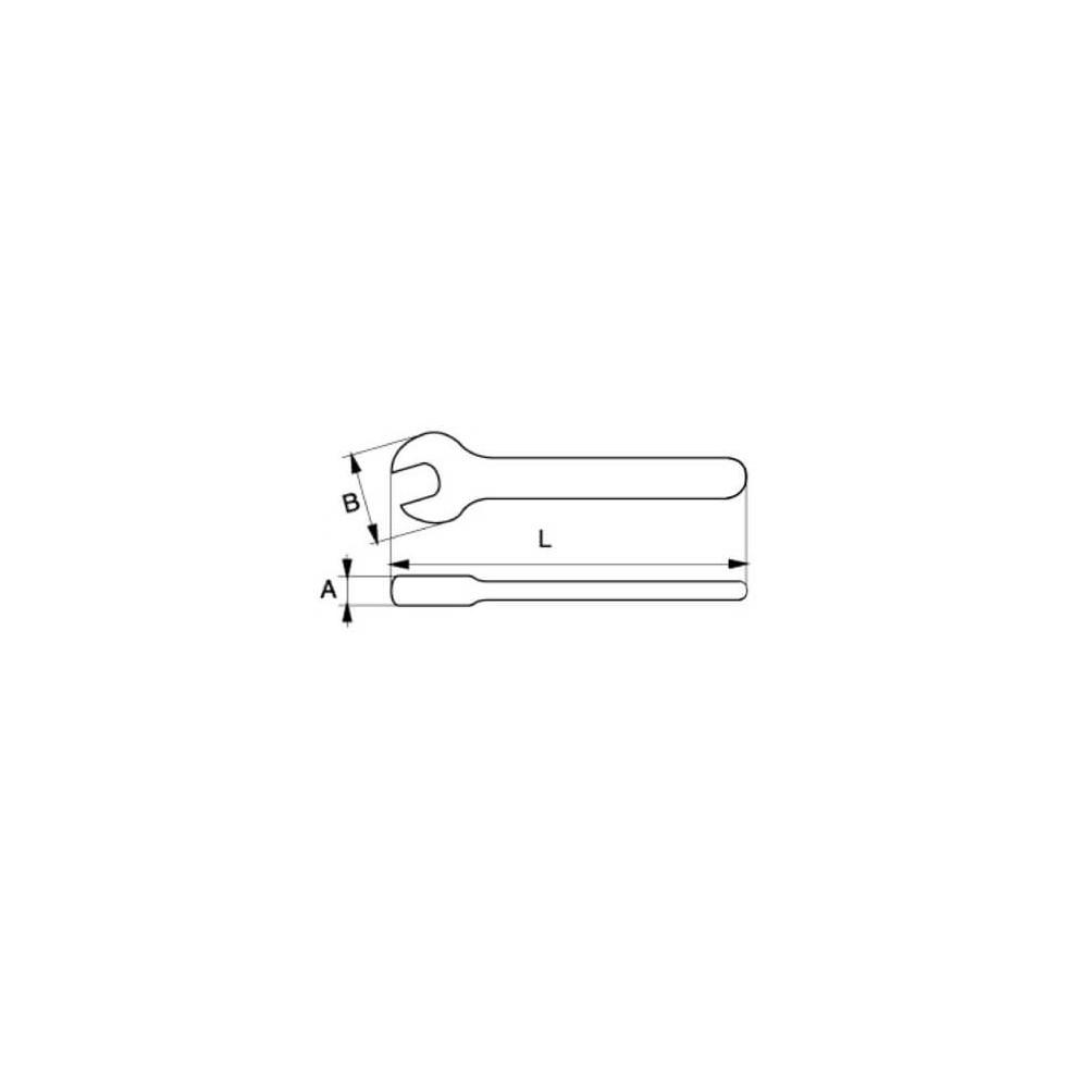 Llave Fija Aislada de una Boca 20 X 180 MM Bahco 6MV-20