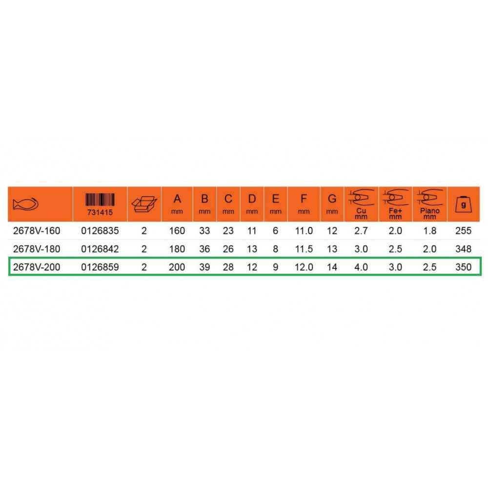 """Alicate Aislado Universal 8"""" 1000 VLT Bahco 2678V-200"""