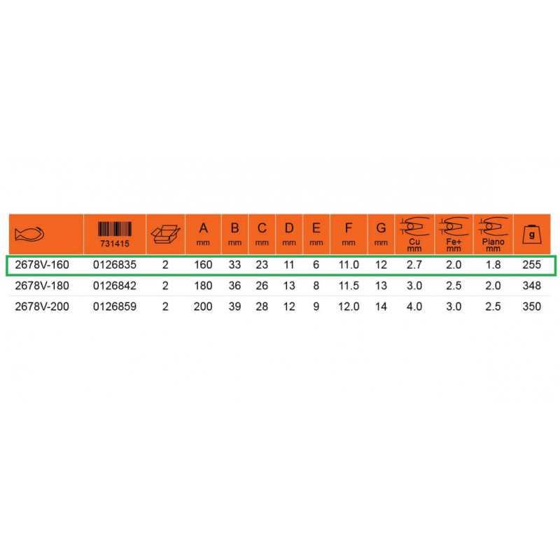 """Alicate Aislado Universal 6"""" 1000 VLT Bahco 2678V-160"""