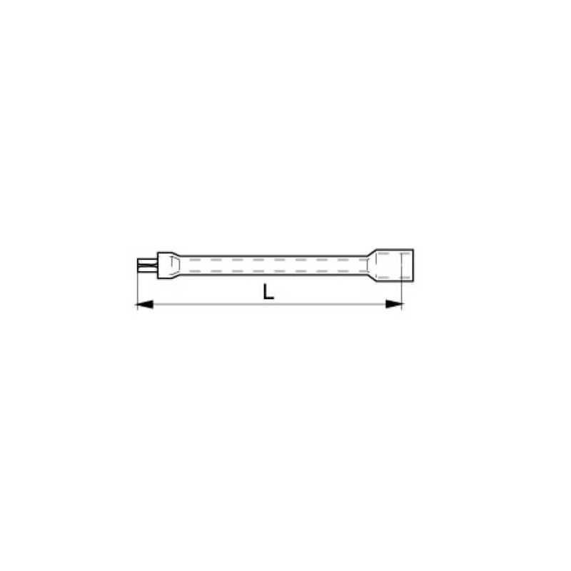 """Barra Extensión Aislada 1/2"""" 1000 V Bahco 8162-1/2V"""