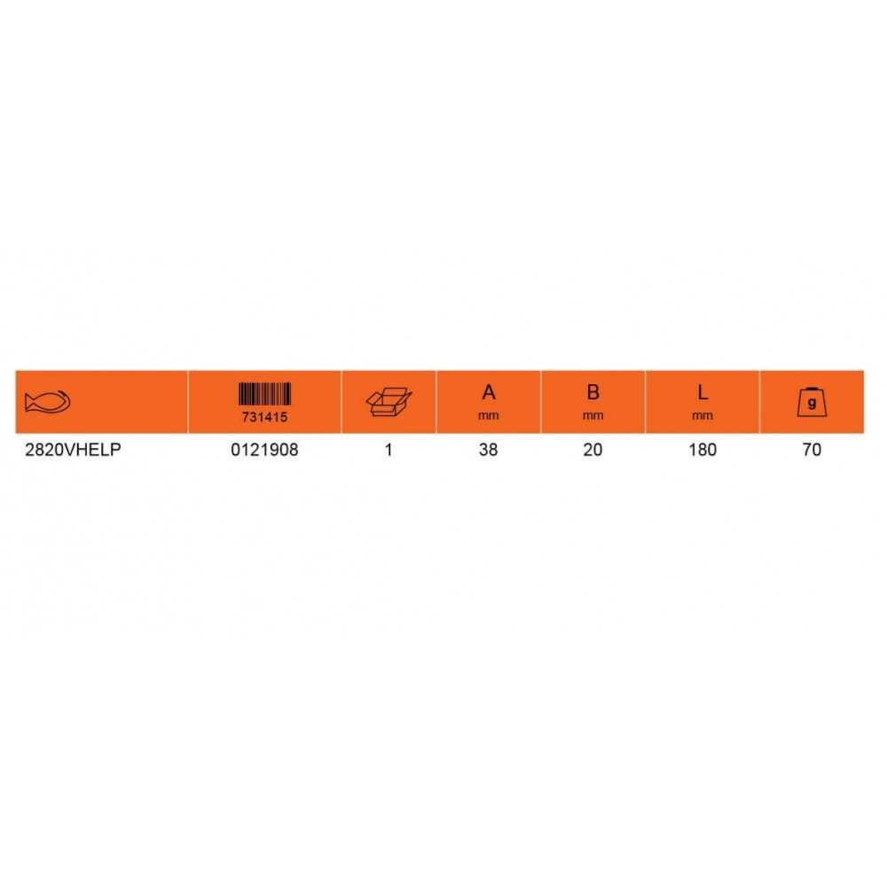 Cuchillo Pelacables con Guía Aislado 1000 VL Bahco 2820VHELP